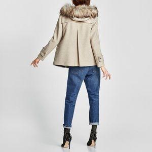💥3 x HOST PICK💥🆕Zara Duffle Coat- Faux Fur Hood